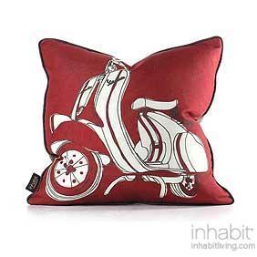 Moto in Scarlet Green Pillow