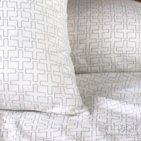 Plus in Ivory and Silver Sheeting