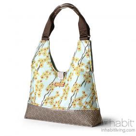 Reagan Flowering Pyrus in Cornflower Handbag