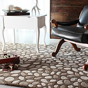 Pumice Stone in Natural Wool Area Rug
