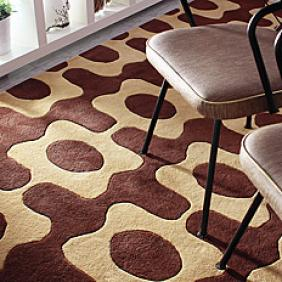 Laugh in Chocolate & Amber Wool Area Rug