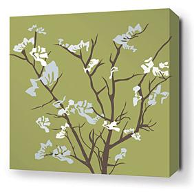 Ailanthus in Grass and Sky Stretched Wall Art