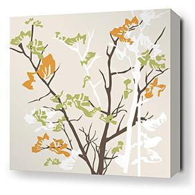 Ailanthus in Wheat Stretched Wall Art
