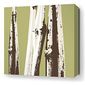 Bamboo in Grass Stretched Wall Art
