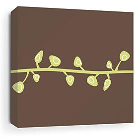 Sprout in Chocolate Stretched Wall Art