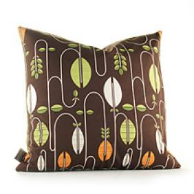 "Carnival in Chocolate and Sunshine : 18""x18"" Pillow - OUTLET"