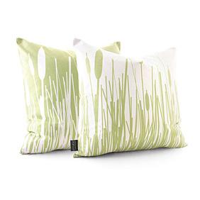 Cattails in Celery Pillow