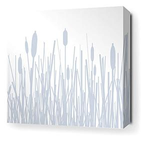 Cattails in Ice Stretched Wall Art