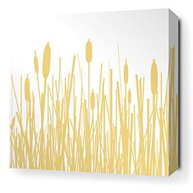 Cattails in Sherbet Stretched Wall Art