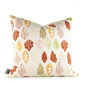 Collage in Pear and Rust Pillow