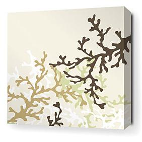 Coral in Moss Stretched Wall Art