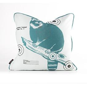 Coon Bullseye in Cornflower Pillow