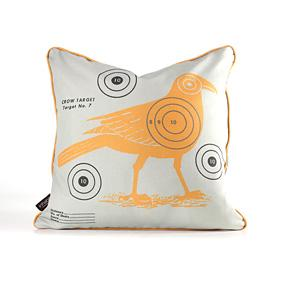 Crow Bullseye in Sunshine Pillow