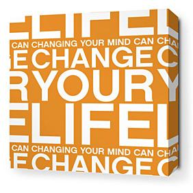 Change Your Life in Sunshine Stretched Wall Art