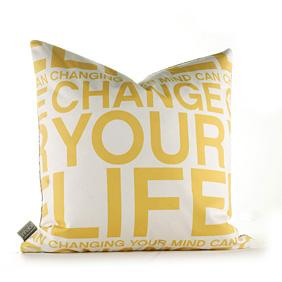 Change Your Life in Sunflower Pillow