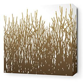 Field Grass in Amber Stretched Wall Art
