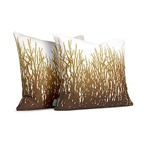 Field Grass in Amber Pillow