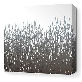 Field Grass in Artic Sky Stretched Wall Art