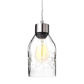 Flock in Clear Reclaimed Bottle Pendant Light