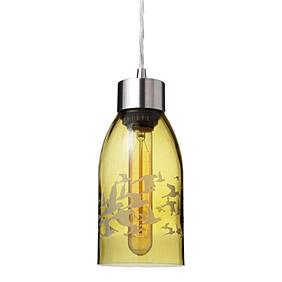 Flock in Ochre  Reclaimed Bottle Pendant Light