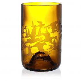Flock Amber Drinking Glass