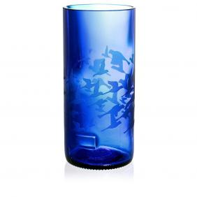 Flock Blue Drinking Glass