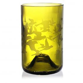 Flock Green Drinking Glass