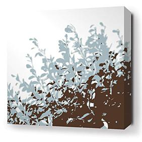 Foliage in Aqua Stretched Wall Art