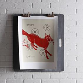 Fox Bullseye in Scarlet Print