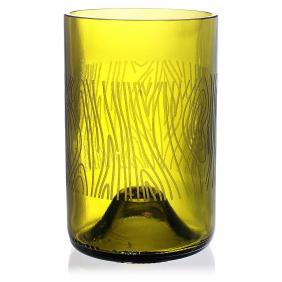 Madera Green Drinking Glass