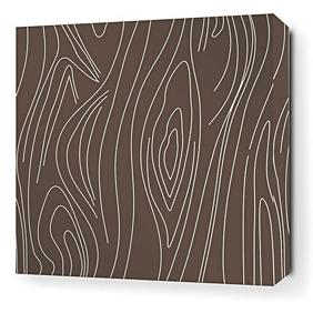 Madera in Chocolate Stretched Wall Art