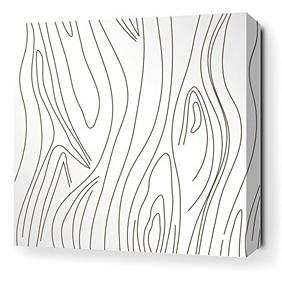 Madera in White Stretched Wall Art