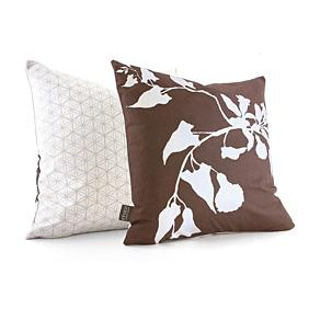 Morning Glory in Chocolate Pillow