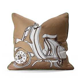 Moto in Camel & Grass Pillow
