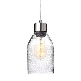 Mum in Clear Reclaimed Bottle Pendant Light