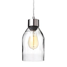 Naked in Clear Reclaimed Bottle Pendant Light
