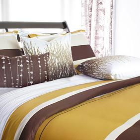 Nourish in Amber Duvet Cover and Shams