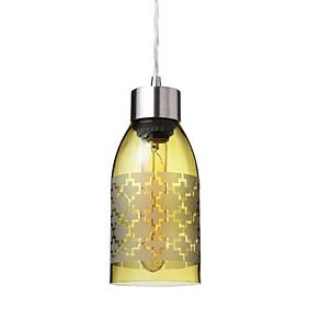 Plus in Ochre Reclaimed Bottle Pendant Light