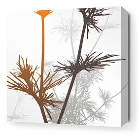 Prairie in Rust and Charcoal Stretched Wall Art