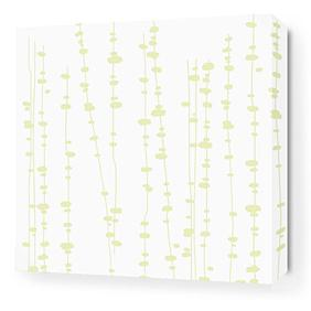 Pussy Willow in White and Dew Stretched Wall Art