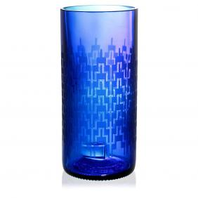 Regent Blue Drinking Glass
