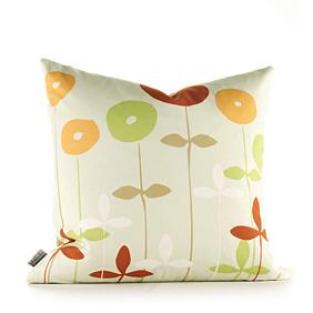 Scribble in Pear and Rust Pillow