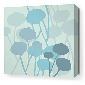 Seedling in Light Cornflower Stretched Wall Art