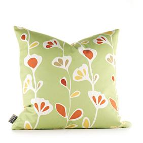 Stencil in Pear and Rust Pillow