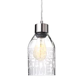 Since When in Clear Reclaimed Bottle Pendant Light