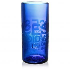 Since When Blue Drinking Glass