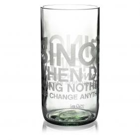 Since When Clear Drinking Glass