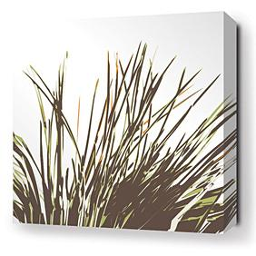 Thatch in Grass Stretched Wall Art