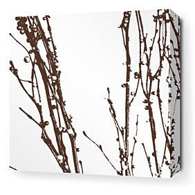 Undergrowth in Chocolate 2 Stretched Wall Art