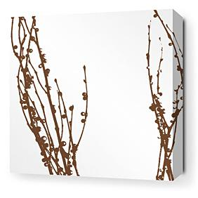 Undergrowth in Chocolate 3 Stretched Wall Art